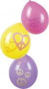 6 Palloncini hippy simbolo della pace