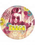 Confezione 6 piatti tondi hippy