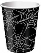 8 bicchieri Halloween con ragnatela