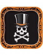 Set 8 piatti Mr. scheletro Halloween