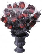 Bouquet di rose rossa Halloween con ragnatela