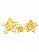 6 stelle assortite in metallo dorato