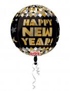 Pallone di Capodanno in alluminio nero e oro