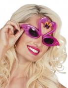 Occhiali rosa con fenicotteri