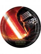 8 piatti di carta di Star Wars VII™ 22 cm
