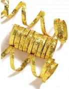 Rotolo contenente 10 serpentine color oro