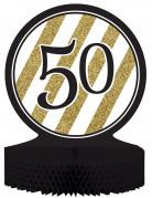 Centrotavola 50 anni nero e oro