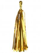 Lotto da 6 pompon con nappa di color oro
