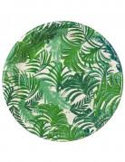 12 piatti in cartone tropical Jungle 23 cm