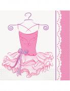 16 tovaglioli di carta tema Ballerina misure 33 x 33 cm