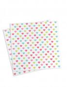 20 tovagliolini di carta Principessa 25x25 cm