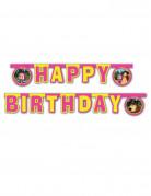 Ghirlanda con figure Buon Compleanno da 2 metri Masha e Orso