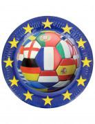 6 piatti di cartone Euro 2016