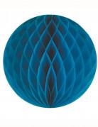 Sfera di carta a nido d'ape colore blu anatra