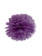 Ponpon da appendere di carta viola 25 cm