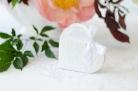 10 Scatole portaconfetti a forma di cuore colore bianco