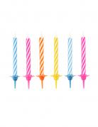 Confezione di 10 candele colorate