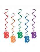 Ghirlande multicolor da appendere per 18 anni