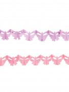2 mini ghirlande con farfalle in carta