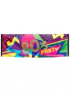 Striscione in tessuto 80's Party 74 x 220 cm