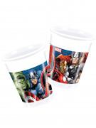8 bicchieri di plastica a tema Avengers™ 200 ml