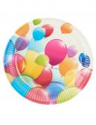 10 piatti con palloncini volanti 23 cm