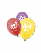 8 palloncini in lattice per compleanno 40 anni