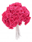 72 Mini rose di raso fucsia