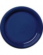 30 piatti di plastica blu marine 22 cm