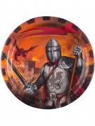 8 piatti cavaliere nero 23 cm