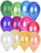 50 palloncini multicolor metallizzati