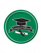 18 piatti verdi Congrats Grad 22 cm