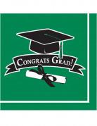 36 tovaglioli verdi Congrats Grad
