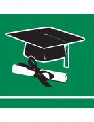 36 tovaglioli piccoli verdi Congrats Grad