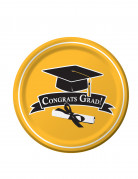 18 piatti gialli Congrats Grad 22 cm