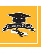 36 tovaglioli gialli Congrats Grad
