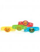 4 braccialetti di gomma Emoji™