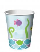 8 bicchieri di carta Sirena