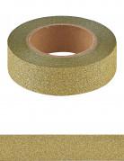 Washi tape dorato con brillantini