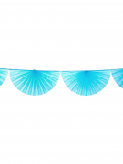 Ghirlanda di ventagli turchese