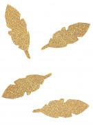 10 piume di carta con brillantini dorati