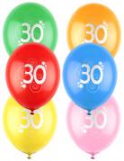 12 palloncini colorati numero 30