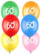 12 palloncini colorati numero 60