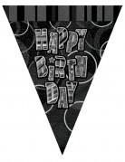 Ghirlanda con bandierine grigia Happy Birthday