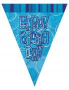 Ghirlanda con bandierine blu Happy Birthday