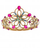Corona da principessa oro e multicolor per bambina