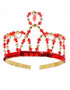 Corona da principessa rossa per bambina