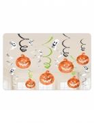 12 decorazioni da appendere zucche e fantasmi Halloween