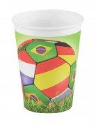6 bicchieri in cartone mondiali di calcio