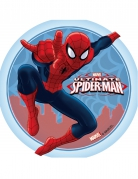 Disco di ostia con Spiderman™ bordo celeste